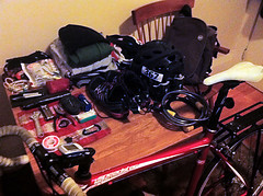 Travel kit of the overnight roundtrip to Pigeon Point