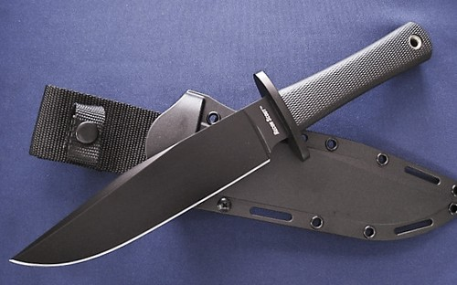 "Cold Steel Recon Scout 7-1/2"" SK-5 High Carbon Black Fixed Blade"