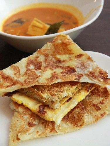 Cheese, Egg, Onion and Plain Pratas