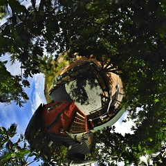 Stereographic 3 (MrJJCO) Tags: world chile sunset panorama sol contraluz photo interesting power 360 most views planet tropical contraste g1 quinta region domingo mundo lapse 2012 favorited planeta 360º stereographic tinyplanet explored tinyworld flickraward mrjjco