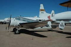 US Navy Beech 18 UC-45J 39213 (PlaneSnapper) Tags: museum us cross tucson space air steve navy az pima beechcraft 4297 uc45j 39213 be18