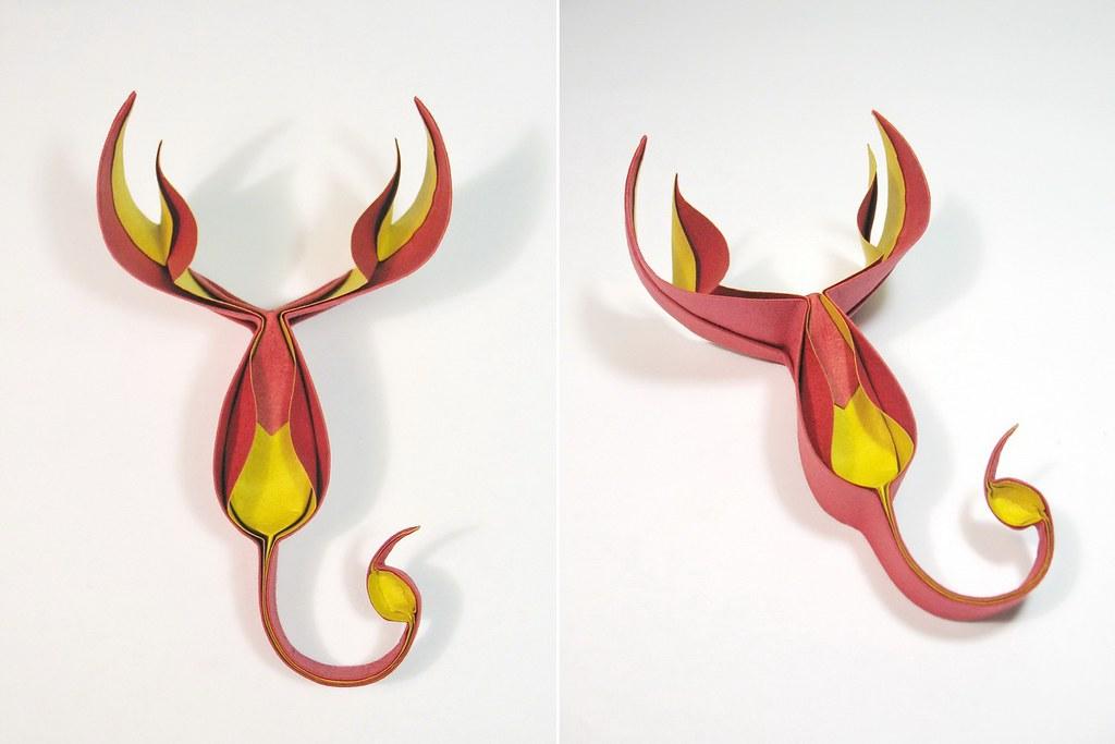 Fire Scorpion Cuong Origami Tags Art Paper Handmade Folding Nguyenhungcuong