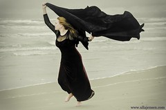 Wind Music (Ulla Jensen Photography) Tags: woman storm cold beach denmark video nikon wind running redhead cloth diva youtube galadress wwwullajensencom