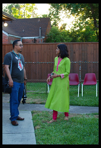 VBB Artistic Director/Founder Sehba Sarwar talking with filmmaker Marc Furi