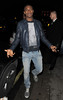 Chelsea FC player Salomon Kalou leaving Novikov restaurant. London, England