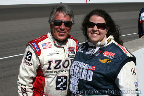 """Amanda Groce with Mario Andretti • <a style=""""font-size:0.8em;"""" href=""""http://www.flickr.com/photos/78612590@N05/7217041348/""""  on Flickr</a>"""