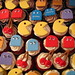"""Pac Man cupcakes! <a style=""""margin-left:10px; font-size:0.8em;"""" href=""""http://www.flickr.com/photos/64091740@N07/7239506854/"""" target=""""_blank"""">@flickr</a>"""