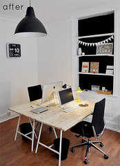 How to create a shared home office ? (Muriel Alvarez) Tags: wood vintage for desk sharing homeoffice homedecor decocrush