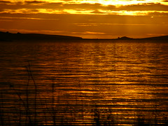 Sunset over Scapa Flow (stuartcroy) Tags: winter sunset sea sky colour reflection water beautiful weather flow orkney scenery tranquility panasonic scapa dmclc70 flickrstruereflection1