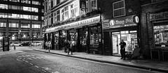 Kung Foo (Florian Btow) Tags: kung foo food chinese cuisine london city street black white monochrom photography 16x7 wide angle night scene