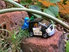Stuck already?! :-) (parik.v9906) Tags: help push brick plants garden happy strong slope slow stuck car roadtrip trip road fun outdoors days project 365 365project 365days isight apple iphoneography iphone5s 5s iphone minifigure minifigures minifig legos lego