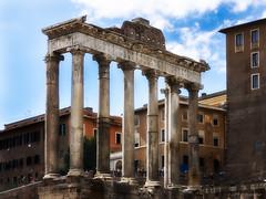 Templum Saturni..... (JJPS Photo) Tags: cityscape city rome ruins temple