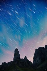 Storr Trails (aaronvonhagen) Tags: storr oldmanofstorr scotland uk unitedkingdom startrails astrophotography vancouverphotographer nightphotography night nightskies stars landscape canon 5dmarkiii cloudsandstars adventureisoutthere wanderlust space skye isleofskye