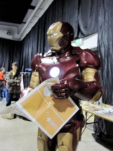 Iron Man reading Paper Science 1