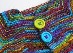 Earthy Rainbow Sleeveless Fern Sweater ~~~ Size 5/6