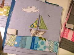 new pouches ... (monaw2008) Tags: show cloud bird boat ship handmade sewing fabric pouch applique pfullingen handfest monaw monaw2008
