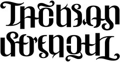 """Jackson"" & ""Strength"" Ambigram"