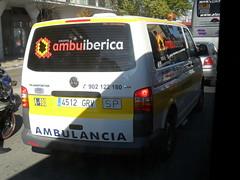Ambuiberica. Volkswagen Transporter (Emergencias ZGZ) Tags: españa vw volkswagen spain zaragoza van furgoneta transporter ambulancia traslado ambuiberica aragóne