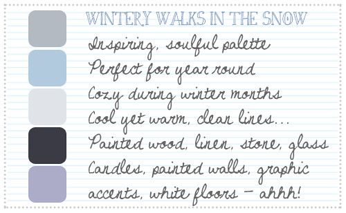 Wintery Walks In The Snow Palette
