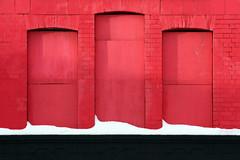 (Delay Tactics) Tags: christmas xmas red white snow black wall three sheffield bottom noel yule kr autos heeley haphazartthree