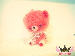 Pim - Cotton Candy Amigurumi Cherry Pink Bear by Ami Cafe'