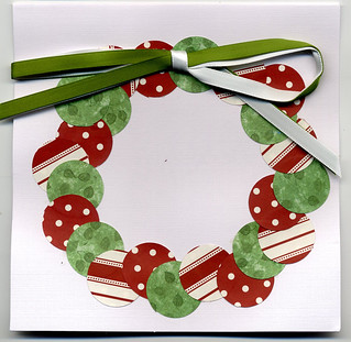 Xmas card wreath