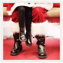 Santa Bench Monday (VictoriaScreams) Tags: santa christmas boots santaclaus santasvillage mallsanta sittingonsantaslap santasboots kpauliframe benchmonday florabellatexture florabellaactions kimklassenstexturesilentnight pillytights santasbench