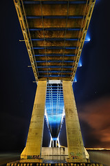 "PVG - ""Lights On"" Series (CResende) Tags: longexposure bridge portugal night river lights lisbon underneath 1020 vascodagama d300 pvg parqueexpo cresende gettyimagesspainq1"