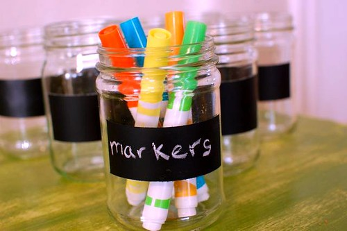 markers in jar