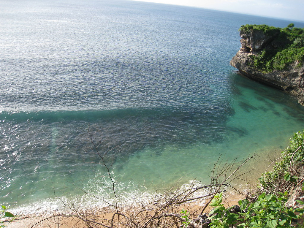 Clear waters at Balangan beach, Bukit, Bali, Indonesia