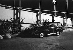 Night Morris (Ilya.Bur) Tags: bw classic car analog vintage kodak tmax hc110 traveller 400 morris gt minor 35 minox film35mm 35gt colorminotar 2835mm