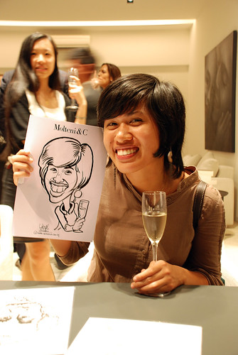 Portrait & Caricature live sketching for Molteni & C - 15