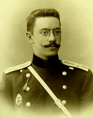Russian Officer  c 1898 portrait (pince_nez2008) Tags: portrait glasses uniform handsome eyeglasses officer 1898 pincenez noseclip