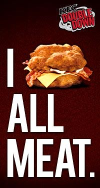KFC's new poster for their Double Down Sandwich - CertifiedFoodies.com
