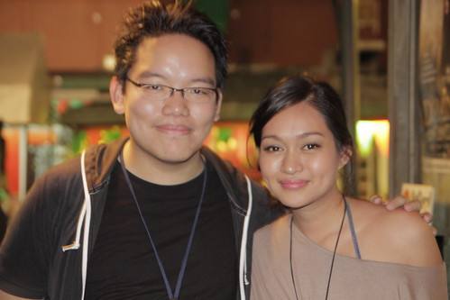 With Filipino actress Mercedes Cabral