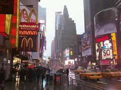 Times Square (jlarsen2006) Tags: christmas street new york city nyc winter usa apple rain square us big theatre manhattan district broadway times 42nd
