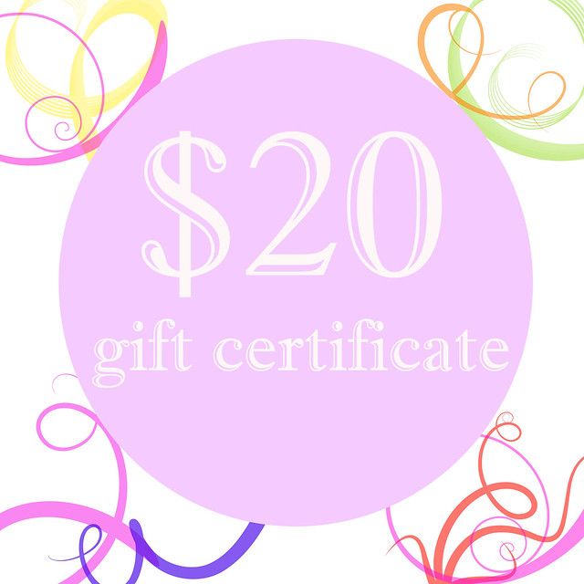 $20 Gift Certificate to Swirls of Creativity