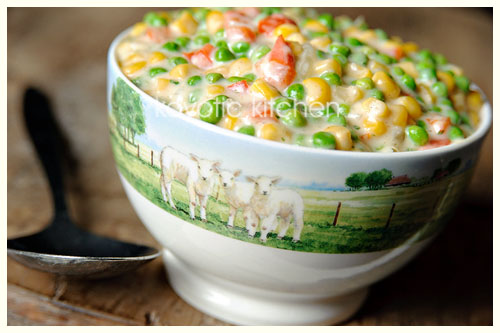 Creamed Peas and Corn