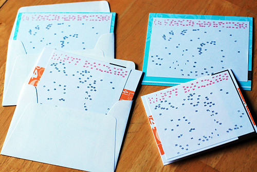 connect-the-dots holiday cards