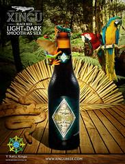 Poster Xingu beer (igor bittencourt) Tags: wood light black beer rain forest dark cobra snake indian smooth silk sombra frog xingu cerveja sapo floresta madeira indio arara blackbeer indigena cocar