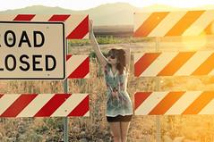 (yyellowbird) Tags: summer arizona mountains girl lights cari roadclosed