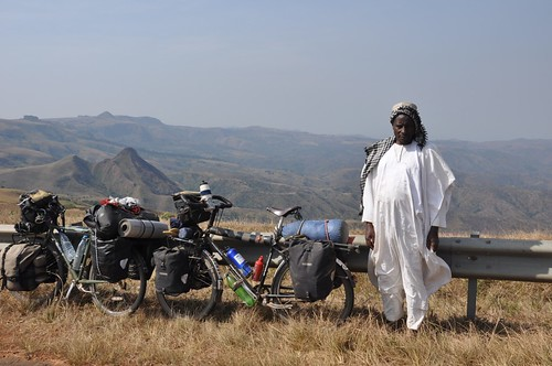 Admiring the view on the Mambilla Plateau