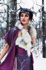 (Arianna Biasini) Tags: winter portrait woman cold girl fashion fur persian dress purple antlers iranian temnafialka mitranikoo