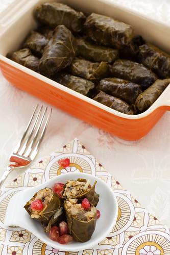Lamb and Pomegranate Dolmeh