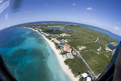 Cayman Islands Helicopter tour (blueheronco) Tags: tour aerialview helicopter caymanislands grandcayman caribbeansea fisheyelense caymanislandshelicopters