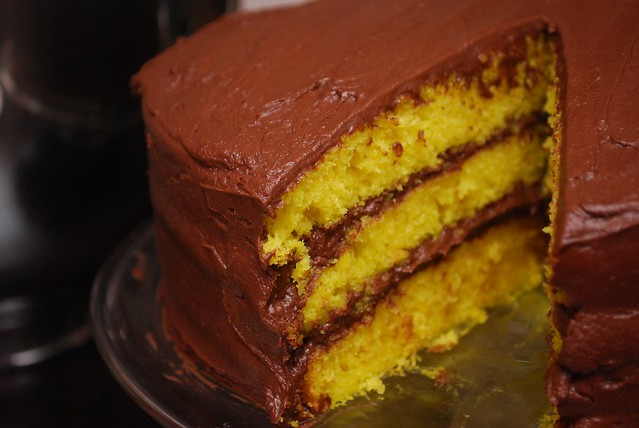 Lemon and dark chocolate cake recipe