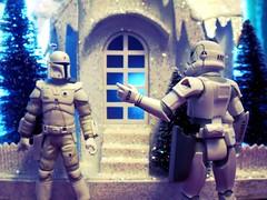 Winter Proto-Land (8 Skeins of Danger) Tags: christmas winter holiday starwars prototype stormtrooper bobafett concept bountyhunter 8skeinsofdanger