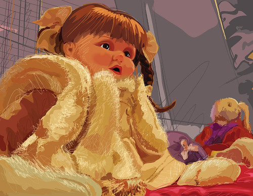 Vector Painting of a Doll