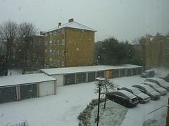From window 2 (Julie70 Joyoflife) Tags: winter snow london photo unitedkingdom hiver lewisham londres angleterre snowing neige 2010 julie70 copyrightjkertesz havazik ninge photojuliekertesz ilneige photojulie70