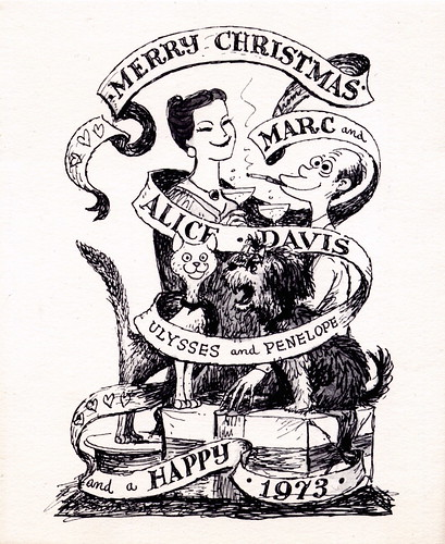 Marc Davis Christmas Card - 1972